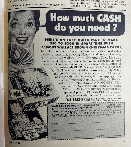 Vintage Ad for Wallace greeting cards