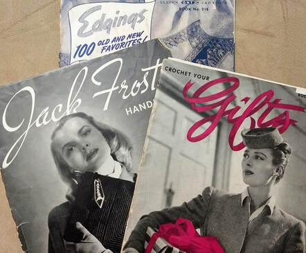 Vintage patterns from the 1940s Jack Frost Handbags, Crochet Your Gifts and Edgings