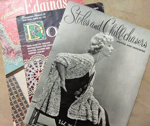 Vintage patterns from 1951 Edgings and Doilies, 1956 Stoles and Chill Chasers