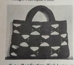 Two/Color Handbag from Workbasket Magazine July 1974