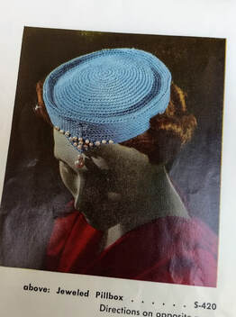 vintage pillbox hat crochet