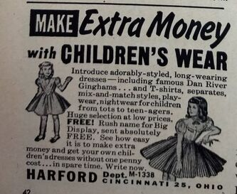 Vintage Ad for Harford Children's Wear