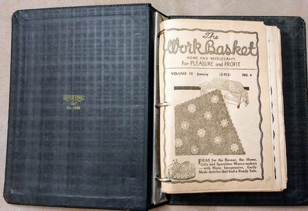 Workbasket Magazine in a vintage binder - years 1945-1948